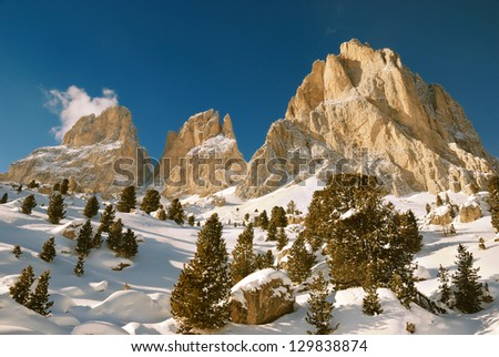 Dolomite Alps, Italy - stock photo