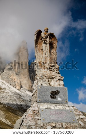 Dolomite Alps, Italy, Europe, Drei Zinnen area at Fall