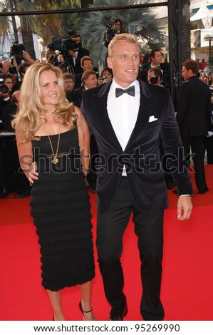 "Dolph Lundgren & Anette Qviberg at world premiere for ""Ocean's Thirteen"" at the 60th Annual International Film Festival de Cannes. May 24, 2007  Cannes, France.  2007 Paul Smith / Featureflash"