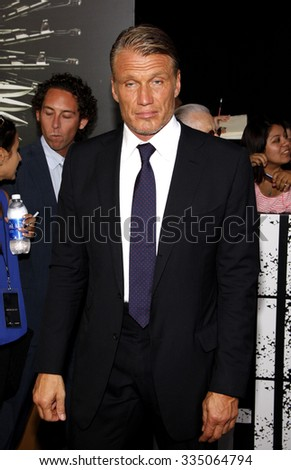 "Dolph Lundgren at the Los Angeles premiere of ""The Expendables 2"" held at the Grauman's Chinese Theatre, Los Angeles, CA. 15th August 2012."