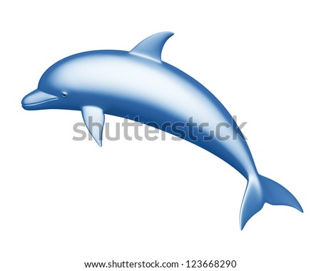Dolphin on a white background - stock photo