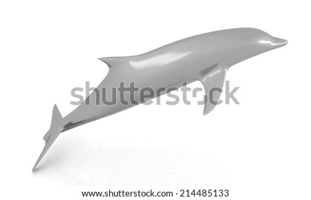 dolphin on a white background