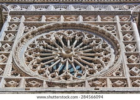 Dom Carrara Rosette - stock photo