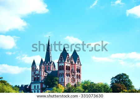 "Dom (Cathedral) of ""Limburg an der Lahn""/Germany - stock photo"