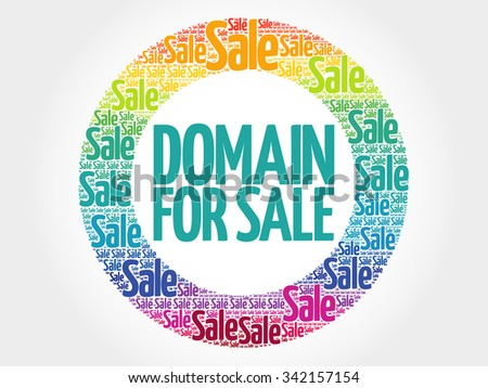 DOMAIN FOR SALE words cloud, business concept background - stock photo