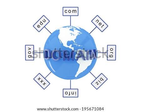 Domain name - stock photo