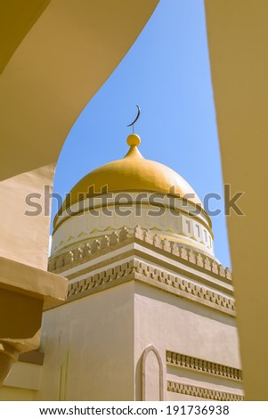 Dome detail in new grand mosque in Cotobato, Southern Philippines