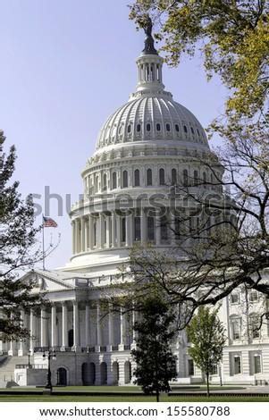 Dome of Capitol Building, Washington, DC, USA - stock photo