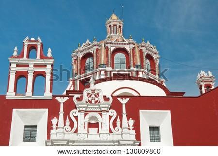 Dome of Santo Domingo church, Puebla, Mexico - stock photo