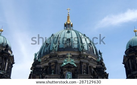 Dome of the Berlin Cathedral in Berlin, Germany - stock photo