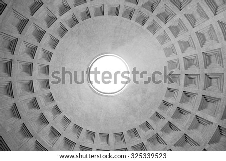 Dome of the Pantheon in Rome / Pantheon / dome