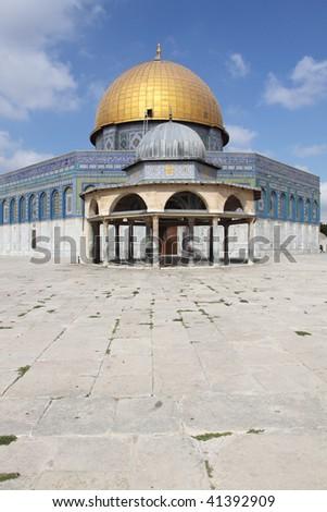 Dome of the Rock at Sunrise, Jerusalem - stock photo