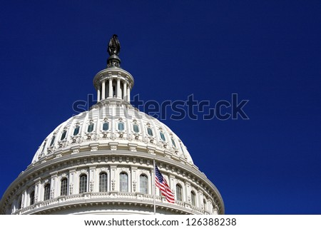 Dome of the US Capitol in Washington, DC - stock photo