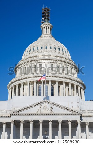 Dome of the US Capitol, Washington DC - stock photo