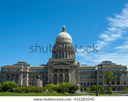 Domed Capitol Building in Boise Idaho USA