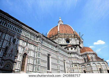 Domes of Cathedral Santa Maria del Fiore, Florence, Italy