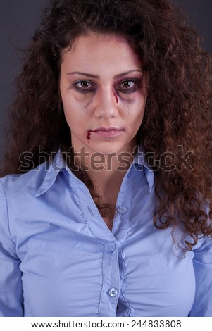 domestic and rape violence. family problems and woman emotions - stock photo
