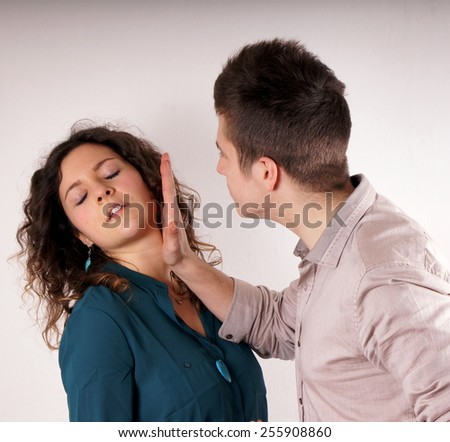 Domestic violence - stock photo