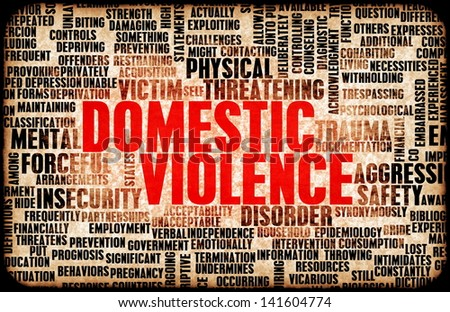 Domestic Violence and Abuse as a Abstract - stock photo