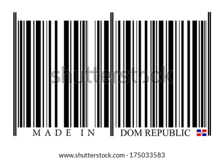 Dominican Republic barcode on white background
