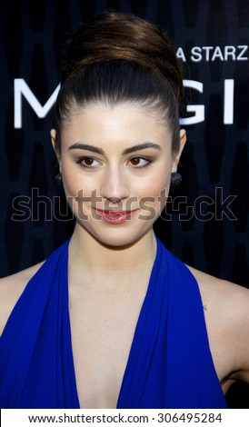Dominik Garcia-Lorido at the Los Angeles premiere of Starz Series 'Magic City' held at the DGA Theater in Hollywood, USA on March 20, 2012. - stock photo