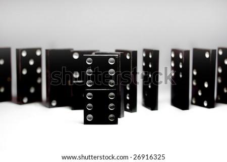 Domino 2 - stock photo