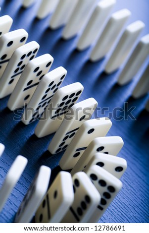 Domino concept - stock photo