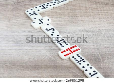 Domino concept selection - stock photo