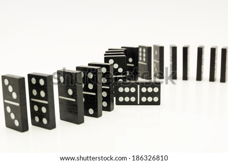 Domino on a white background