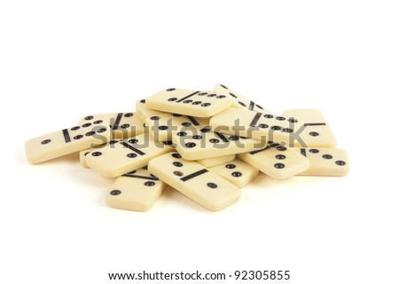 dominoes with black points