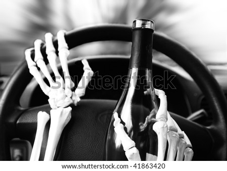 don't drink and drive - stock photo