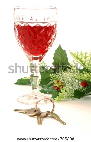 don't drink and drive 3 - stock photo
