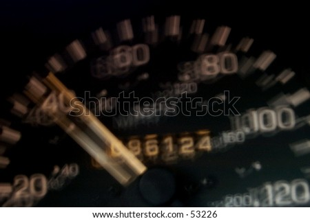 Don't drive drunk speedometer