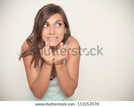 don't know what's coming... - stock photo