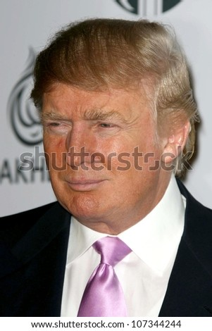 Donald Trump  at a party to introduce the Trump Tower Dubai. The Tar Estate, Bel Air, CA. 08-23-08 - stock photo