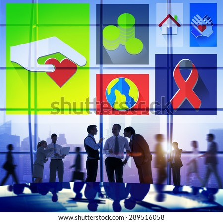 Donate Donation GIve Help Sharing Volunteer Aid Concept - stock photo