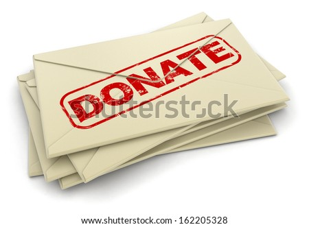 Donate letters  (clipping path included)