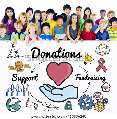 Donation Share Support Fundraising Help Concept - stock photo