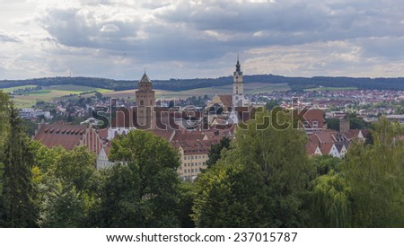 Donauworth, famous historical old town, Germany, Europe