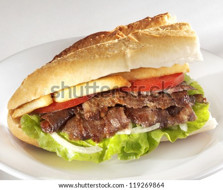 doner kebab - stock photo