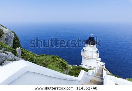 Dongyong Lighthouse,DongYin Coast line ,Matsu, Taiwan - stock photo