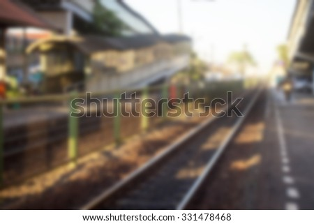 Donmuang train station blurred background,Bangkok of Thailand - stock photo