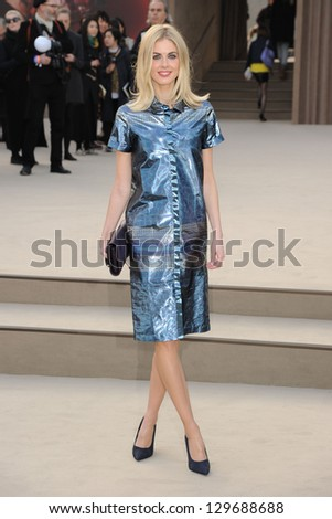Donna Air arriving for the Burberry Prorsum catwalk show as part of London Fashion Week AW13, Kensington Gardens, London. 18/02/2013 Picture by: Steve Vas - stock photo