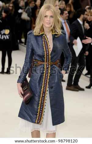 Donna Air arriving for the Burberry Prorsum fashion show as part of London Fashion Week 2012 A/W in Kensington Gardens, London. 20/02/2012 Picture by: Steve Vas / Featureflash - stock photo