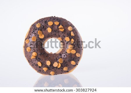 donut. chocolate donuts on background