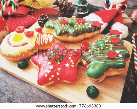 Donut christmas with decoration