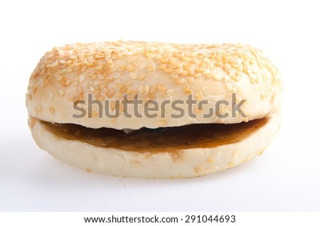 donut. donut burger on the background