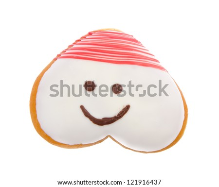 Donut, Heart Shaped Pastry on the background