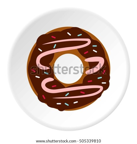 Donut icon. Flat illustration of donut  icon for web