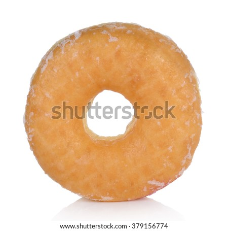 donut isolated on a white background - stock photo